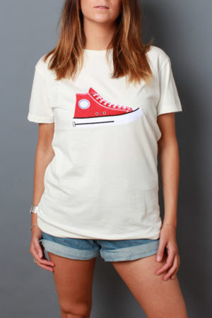 Easy slip on t-shirt ricamo converse