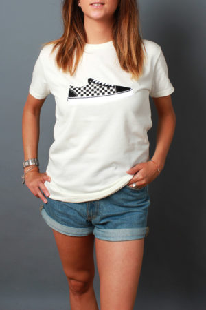 Easy slip on t-shirt con ricamo Vans scacchi